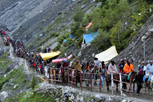 Amarnath Yatra in Jammu Kashmir India