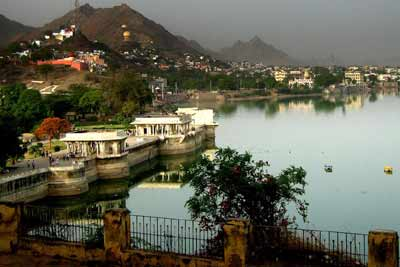 Ana Sagar Lake in Ajmer India