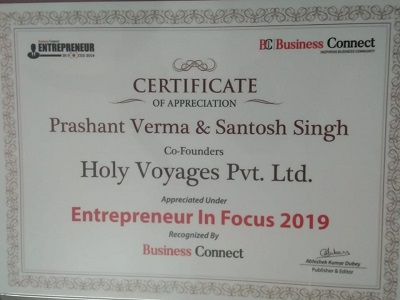 Holy Voyages Entrepreneur in focus 2019 by Business Connect