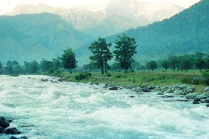Lidder River in Jammu Kashmir India