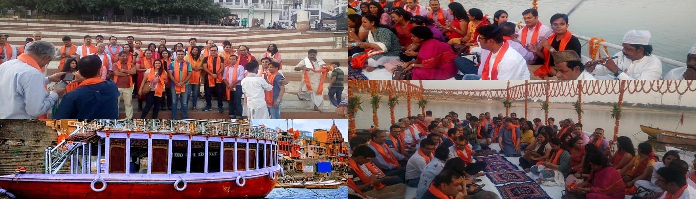 Luxury Bajra Boat Ride in Varanasi