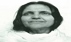 Mata Anandamayi in Varanasi India
