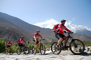 mountain biking pokhara nepal