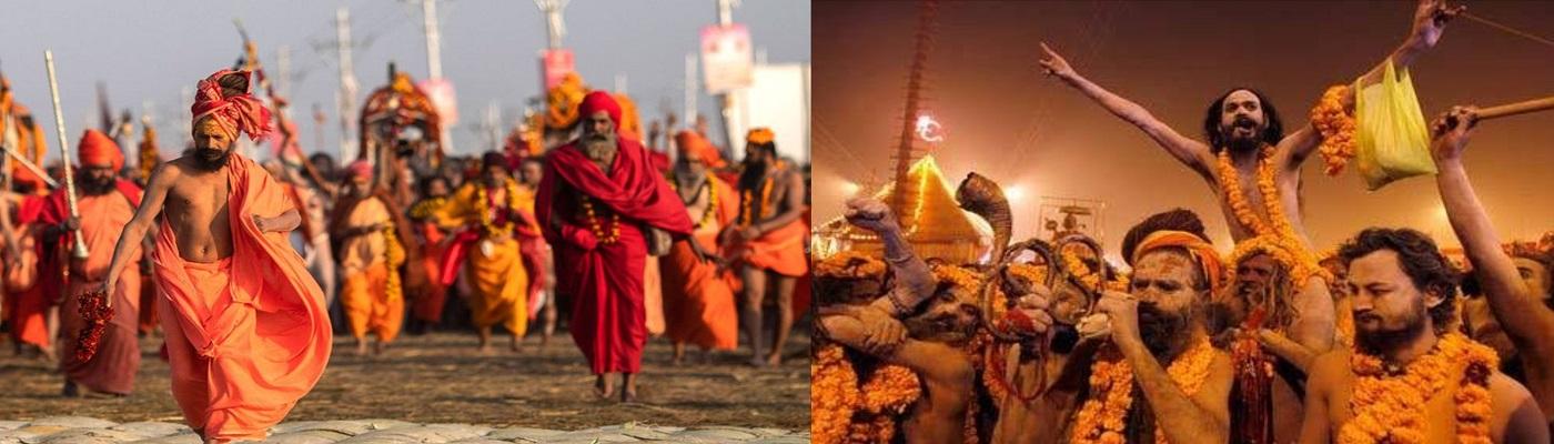 Naga Sadhu images in Haridwar