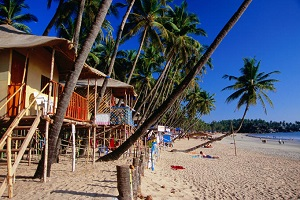 Palolem beach huts goa india