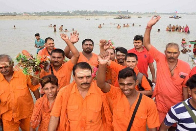 Pilgrims' progress from Sangam to Baidyanath Dham , Varanasi