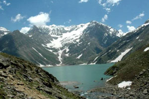 Shesh Naag Lake in Jammu Kashmir India
