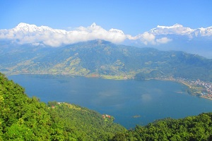 sightseeing of mountains of pokhara nepal