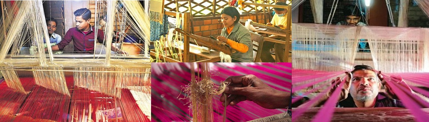 Silk Weaving in Varanasi, India